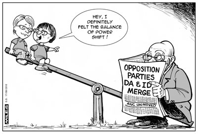 'The ups and downs of oppositional politics': Africartoons.com