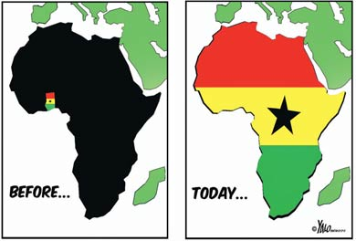 'The United Nation of Ghana': Africartoons.com