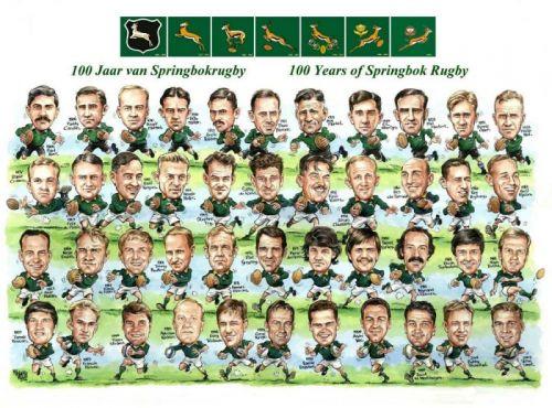 'Springbok Rugby Captains': Africartoons.com