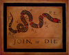 Ben Franklin's 'Join or Die' Cartoon that started a tradition