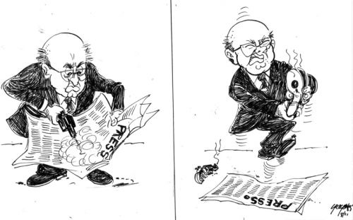 'PW takes on the Press': Africartoons.com