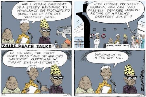 'Peace Talks in Zaire': Africartoons.com