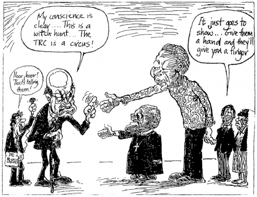 '1998: PW shows his finger': Africartoons.com