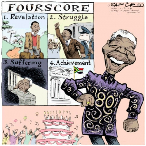 'Fourscore - Mandela's First Eighty Years': Africartoons.com