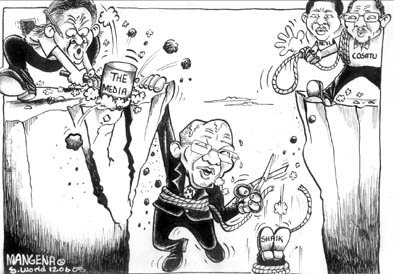 'Zuma hanging in there': Africartoons.com