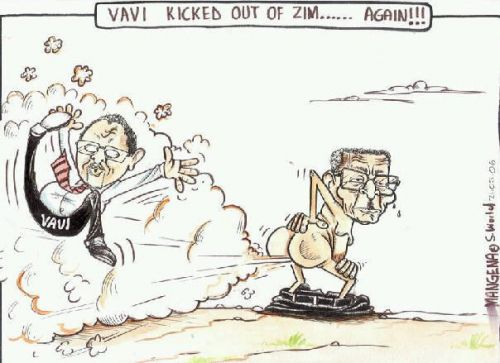 'Vavi Farting against Mugabe thunder': Africartoons.com
