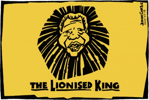 '2010: The Lionised King': Africartoons.com