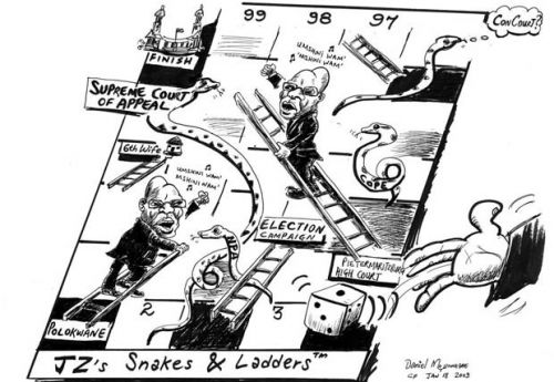 'Snakes and Ladders to Power': Africartoons.com