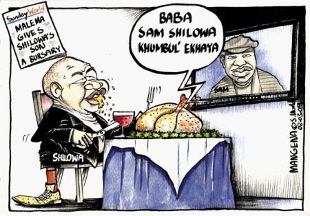 'Malema and Shilowa Jnr': Africartoons.com