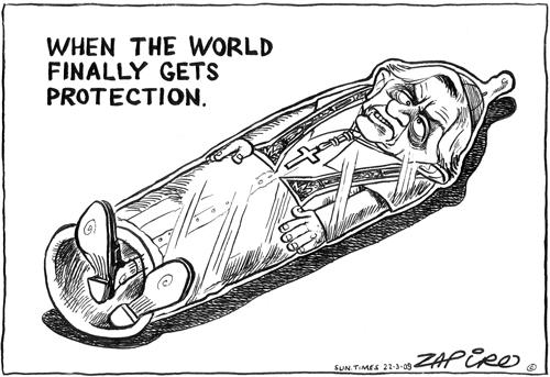 'Pope in a condom': Africartoons.com