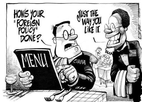 'Hi Hu, I'm Kgalema and I'll be your waiter today': Africartoons.com