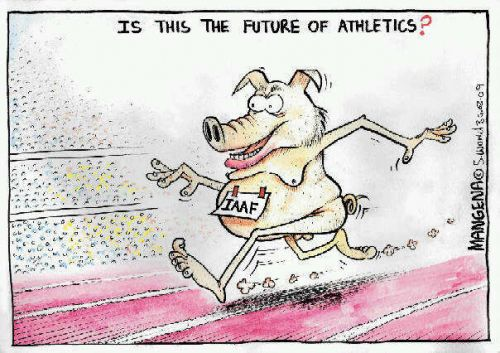 'Athletic Pigs': Africartoons.com