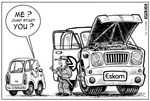 'Eskom needs a jump start from YOU': Africartoons.com