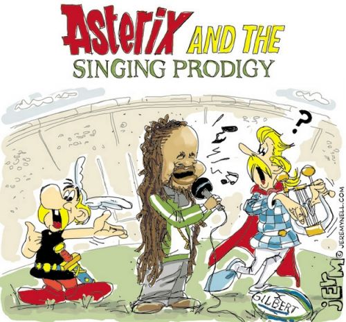 'Asterix and the Singing Prodigy': Africartoons.com