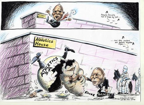 'Chuene&#039;s fall': Africartoons.com