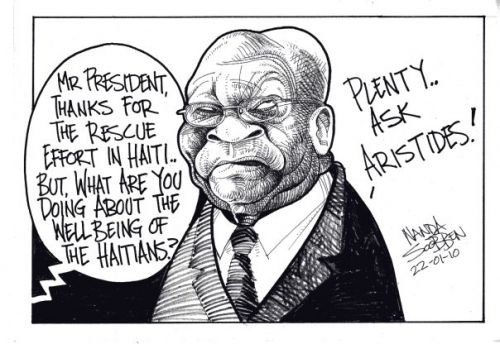 'Looking After The Haitians': Africartoons.com