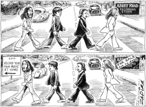 'The Beatles Abbey Road': Africartoons.com