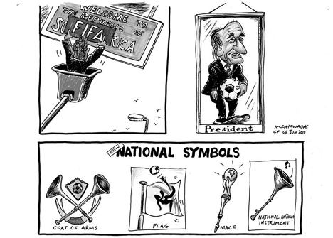 'Republic of South aFIFA': Africartoons.com