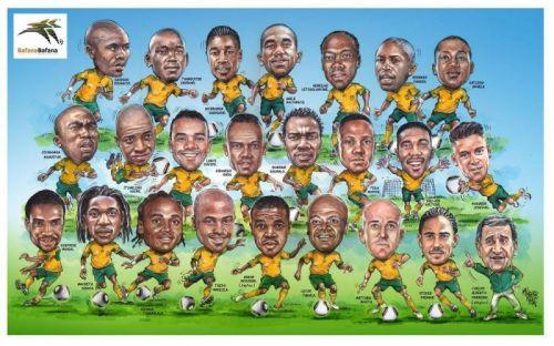 'Bafana World Cup Squad': Africartoons.com