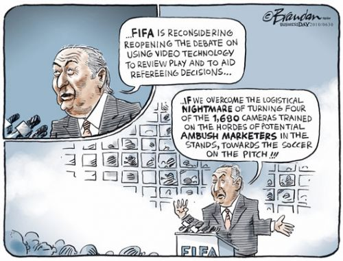 'FIFA's Video Replay': Africartoons.com
