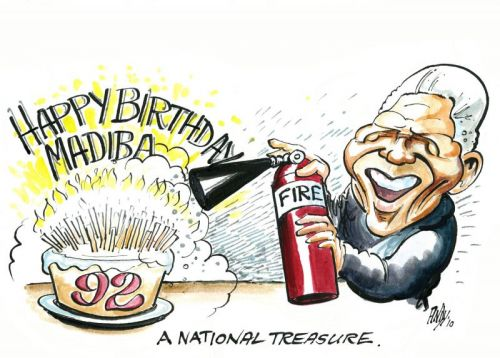 'You can't hold a candle to Madiba!': Africartoons.com