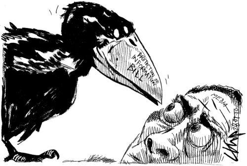 'Info Bill v The Media': Africartoons.com