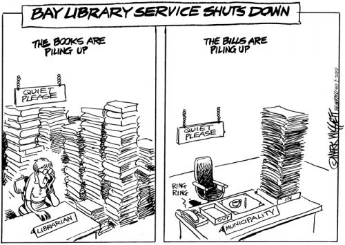 'Bay library service shuts down': Africartoons.com