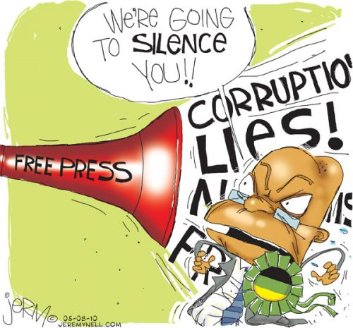 'Silencing the press': Africartoons.com