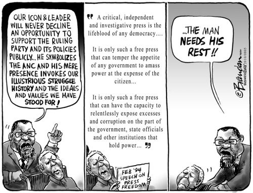 'Mandela on Press Freedoms': Africartoons.com
