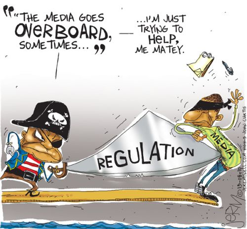 'Overboard Press': Africartoons.com