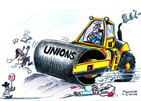 'Labour Steamrolling their Demands': Africartoons.com