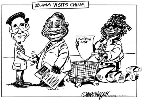 'Zuma visits China': Africartoons.com