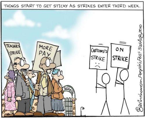 'Cartoonists Enter Strike!': Africartoons.com