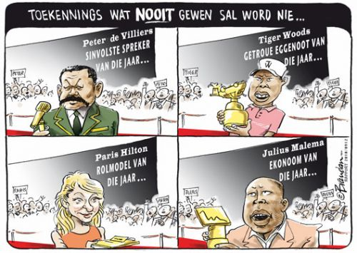 'Awards we're not likely to see...': Africartoons.com