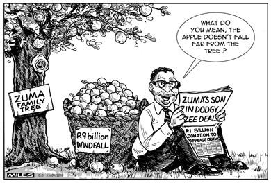 'Zuma Family Business': Africartoons.com