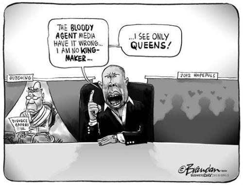 'Malema the Kingmaker': Africartoons.com