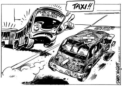'Stop that Taxi!': Africartoons.com