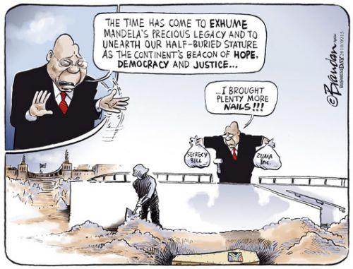 'Exhuming the Mandela Legacy': Africartoons.com