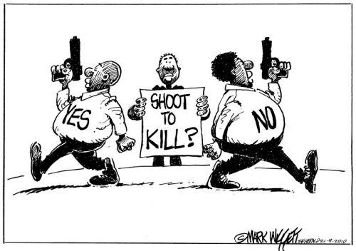 'Shoot to Kill': Africartoons.com
