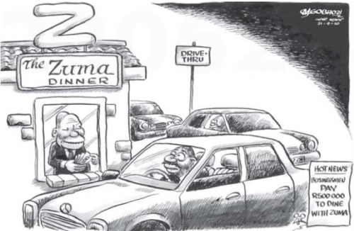 'Dinner with the Big Z': Africartoons.com