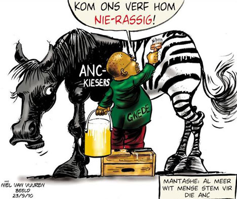 'ANC targets white voters': Africartoons.com
