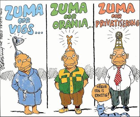 'Zuma on Aids, Afrikaner Sovereignty and Nationalisation': Africartoons.com