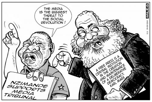 'Blade and Karl': Africartoons.com