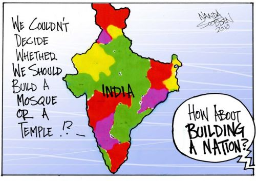 'Nation Building in India': Africartoons.com
