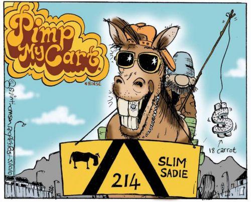 'Pimp My Cart(horse) ': Africartoons.com
