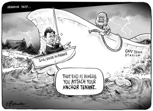 'Cape Town Stadium at Sea': Africartoons.com