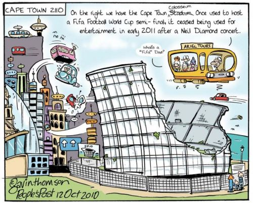 'Cape Towns Colosseum': Africartoons.com