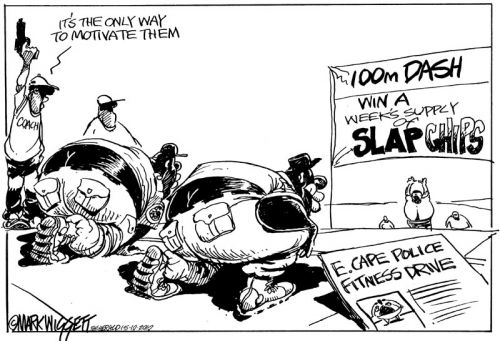 'Slap Chip Cops': Africartoons.com