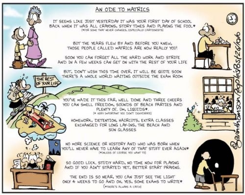 'An Ode to Matrics': Africartoons.com