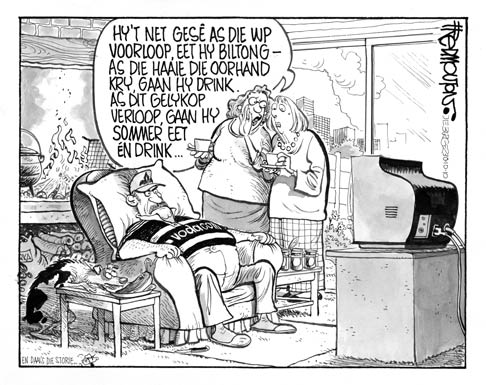 'Rugby Couch Potato ': Africartoons.com